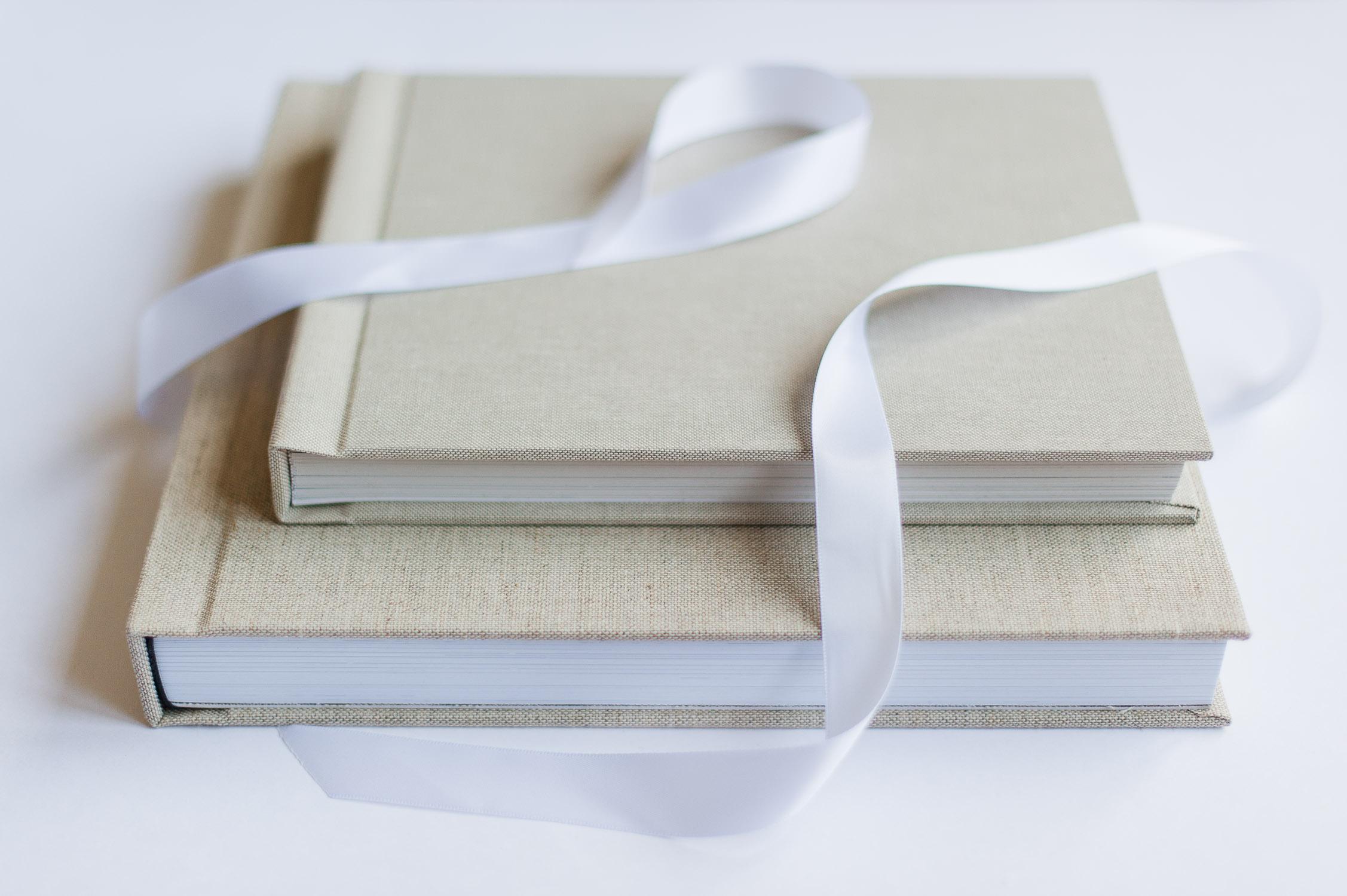 album photographie profesionnel lin vintage beige ruban soie gta imaging