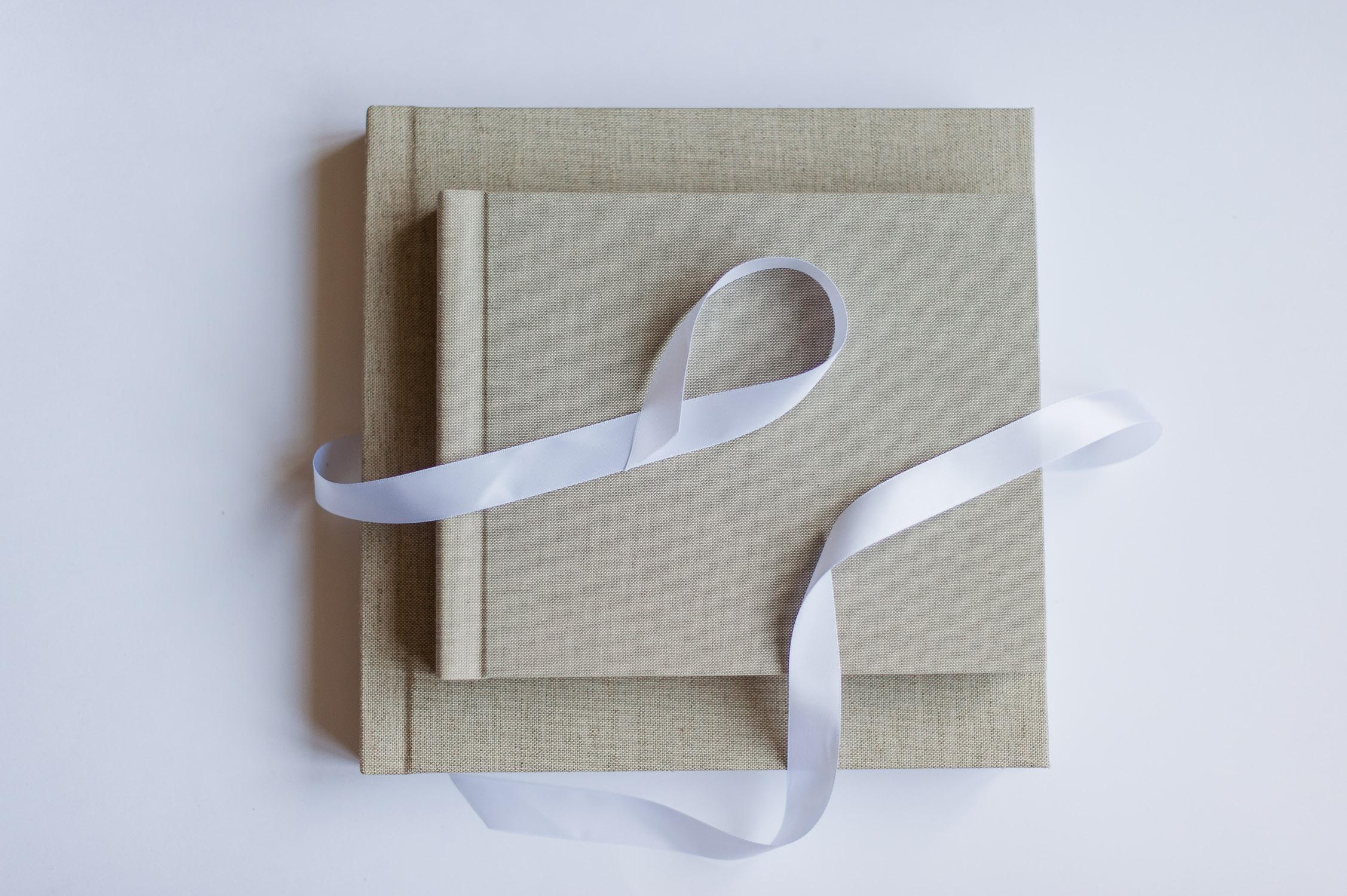 album photographie professionnel tissu lin vintage beige ruban soie gta imaging
