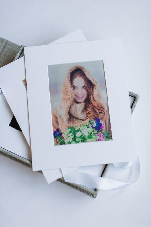 photographie passe partout fait de carton blanc