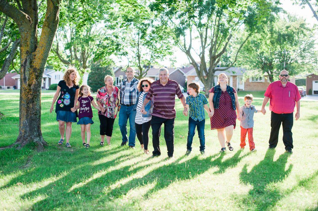 groupe famille ete parc Napierville grand-parent enfant petit-enfant