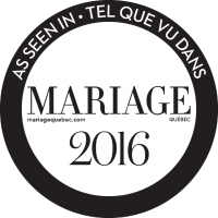 tel que vu dans le magazine mariage quebec 2016 as seen in