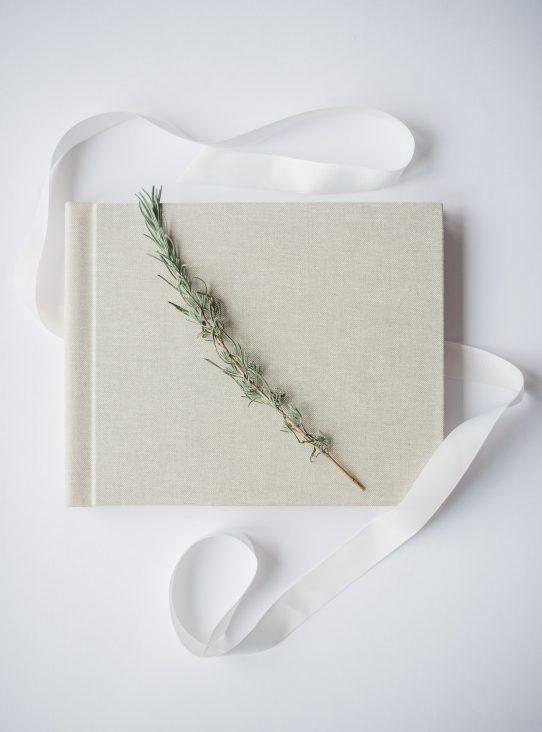 album professionnel tissu lin beige ruban romarin gta imaging