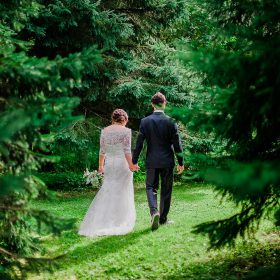 mariage foret nature soleil couchant verdure romantique la champenoise saint-damase