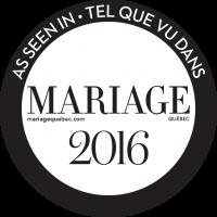 tel que vu dans le magazine mariage quebec 2016 as seen in