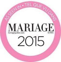 tel que vu- as seen in magazine mariage quebec 2015